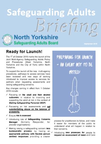 North Yorkshire Safeguarding Adult Board Briefing September 2019